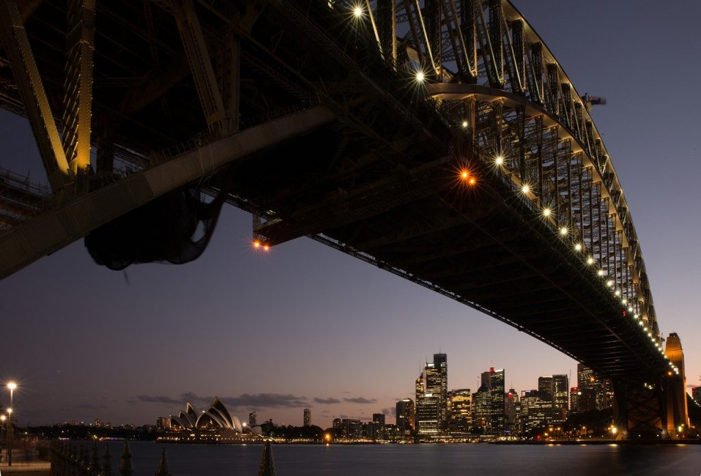 bridge, opera house, sydney